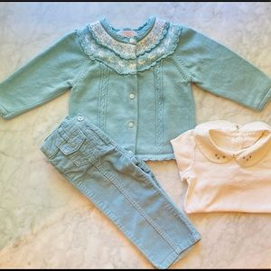 12-18M Janie and Jack Winter Outfit Set